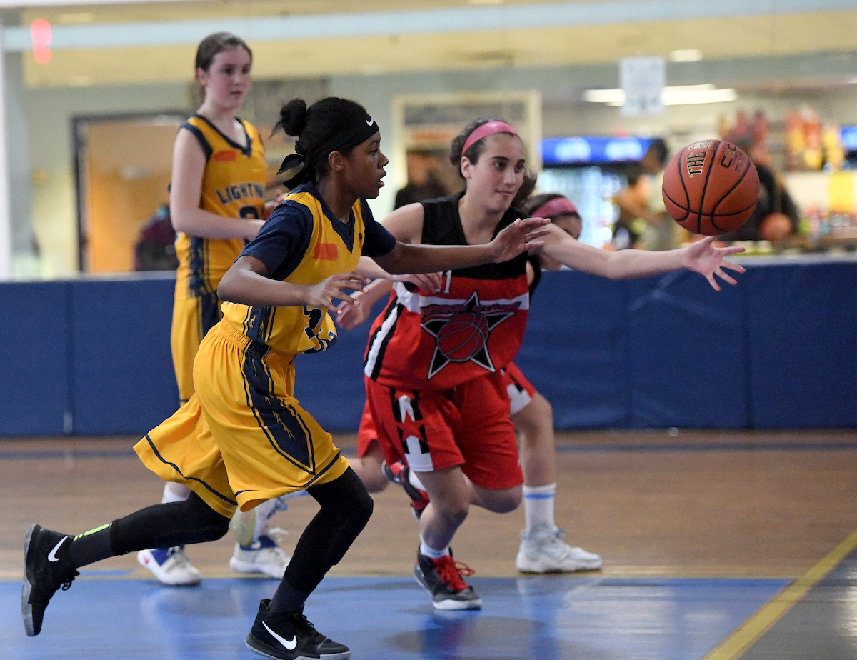 west hempstead ny march 6 2017 actions shots of the girls lightning team in action at the island garden audrey c tiernan - Island Garden Basketball